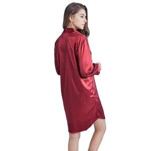 Image 4 - قميص نوم نسائي من توني آند كانديس ستان لباس نوم من الحرير فستان نوم نسائي مثير ملابس نوم سادة للنساء