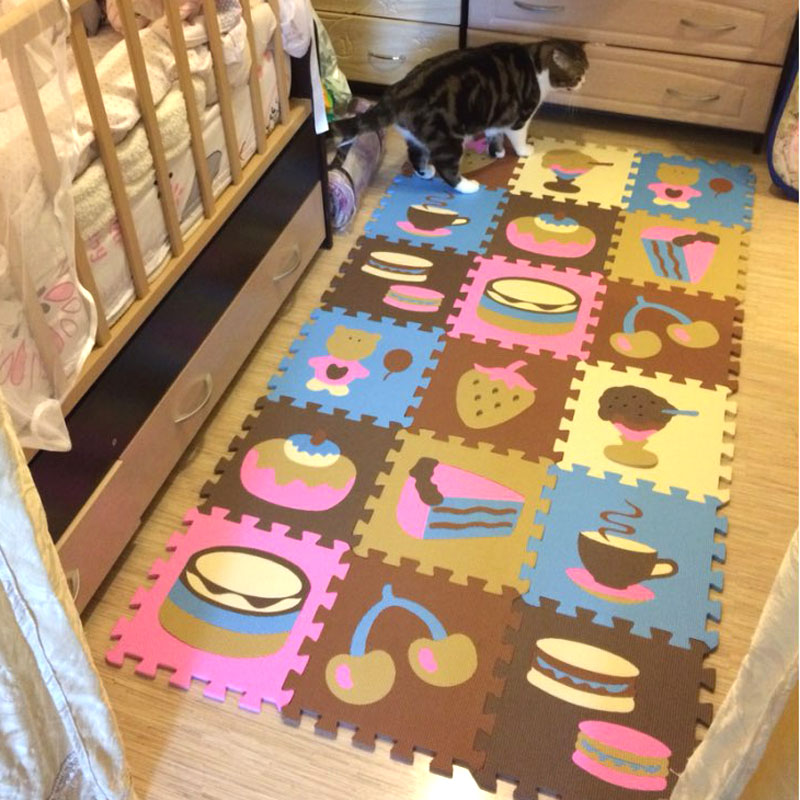 Hot Sale 30*30cm 18 pcs Set Puzzle Carpet Baby Play Mat Floor Puzzle Mat EVA Speelmat Foam Carpet Mosaic Floor Baby Play Mat