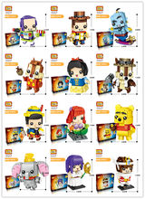 LOZ Cartoon Series Block Mini Block Toy Snow White Princess Doll Girl Character Action Figures DIY Assembly Toys Bricks(China)