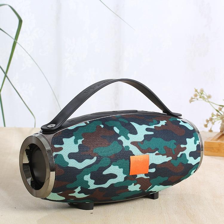 Nouveau haut-parleur Bluetooth sans fil E16 poignée de Support Portable extérieur/TF/USB/FM/AUX/deux en série haut-parleur de Subwoofer de tambour de guerre