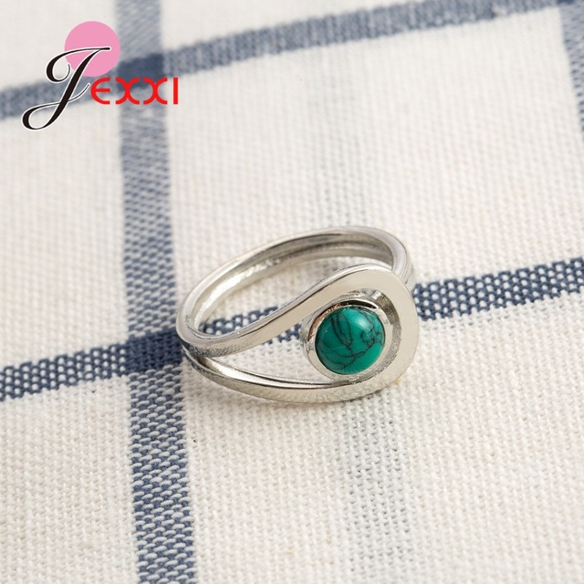 New Arrival Unique Design 925 Sterling Silver Rings Gorgeous Halo Opal Women Wedding Engagement Anniversary Jewelry 1