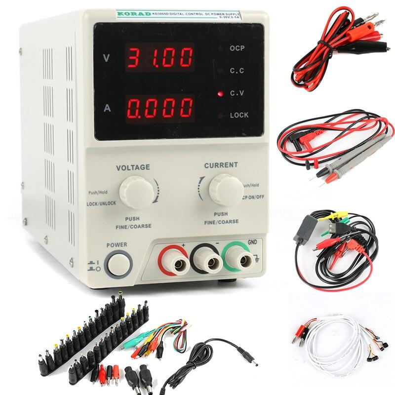 KD3005D codeur cc CNC réglable alimentation 30V 5A tension constante Source de courant Constant mA affichage précision 10mV/1mA