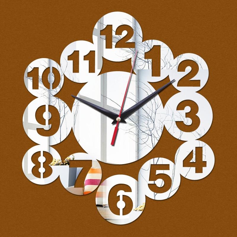 nice wall clocks for sale metal 2017 rushed acrylic wall clocks hot 3d beautiful art modern design mirror clock sale sticker promotion decor freeshippingin wall clocks from home