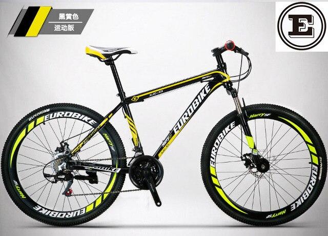 EUROBIKE 21 and 27 speed bike 26*17 inch MTB disc brake alloy frame ...