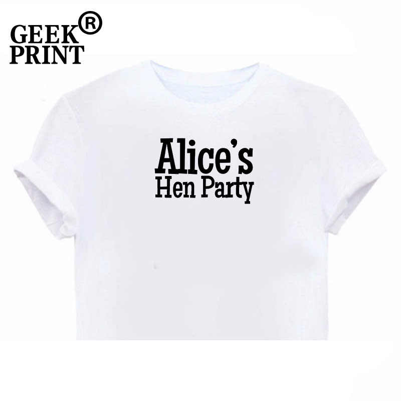 c5372a49f7ce3 Ladies Custom Name Hen Night Tshirt - Bespoke T Shirt Wedding Girls Bride  Party Gifts