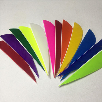 50pcs High Quality 3inch Feath Water Drop Shape Archery Traditional Feather Arrow Fletching For Carbon Shaft Right Bow