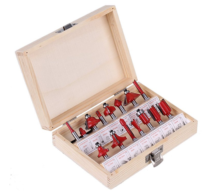 1/4 6.35mm Set Router Bit Shank Wood Carving Tungsten Carbide Tipped Woodworking Milling Cutter Trimming Knife Wood Case high quality wood milling cutter biscuit jointing router bit carbide tipped 1 2 shank woodworking router bits carbide end mill