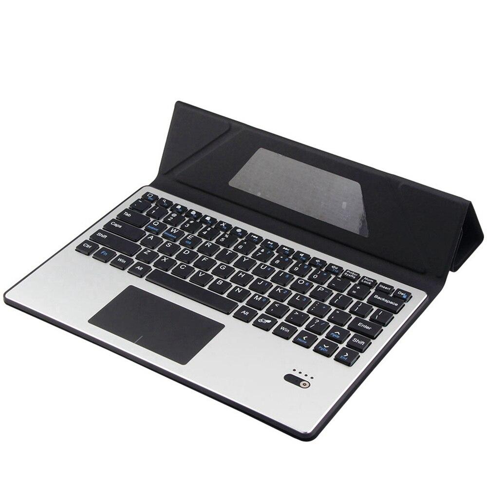 Pour Samsung Galaxy Tab S5e 10.5 T720 T725 amovible en aluminium Bluetooth Touchpad clavier russe + étui mince en cuir PU - 5
