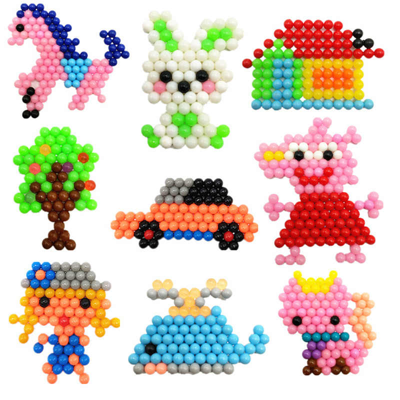 Bambini Perler Pegboard Acqua Perlina Animale Stampi Accessori Tallone Magia Puzzle 3D Di Puzzle Giocattoli Educativi Per Bambini FAI DA TE Perle di Magia