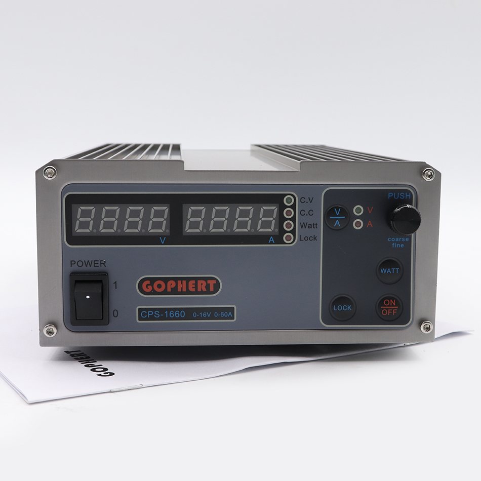 GOPHERT CPS 1660 16V 60A Digital Adjustable DC Power Supply Switching power supply 220Vac EU US