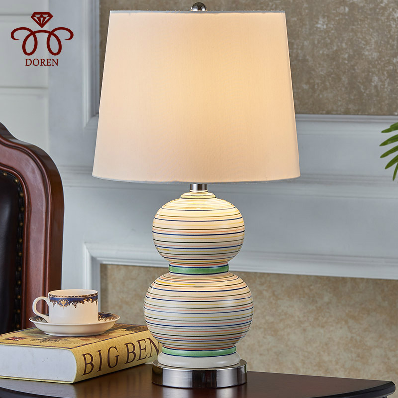 2019 New Style Tuda 30x55cm Free Shipping Modern European Style Table Lamp Ceramic Table Lamp For Bedroom Living Room Originality Table Lamp