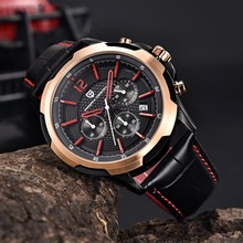 PAGANI DESIGN Fashion Waterproof Chronograph Sport Mens Watches Top Brand Luxury Genuine Leather Quartz Watche Relogio Masculino