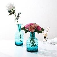 Nordic european style transparent Glass Vase Creative Tabletop Vases decoration living room flower arrangement