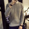 Camisola Homens 2016 Capuz da Camisola Casual Masculino O-pescoço Multi-Cor Slim Fit Dos Homens de Tricô Sweaters Pullover Homem Homens Tamanho 5XL
