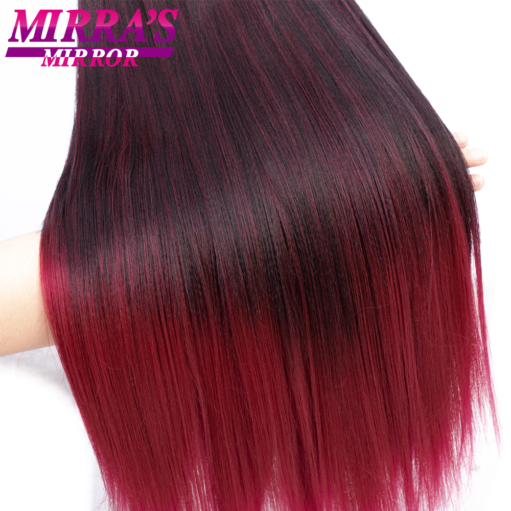 """Image 4 - Mirra's Mirror Jumbo Braids Hair 20""""26"""" T1B/Brown Synthetic Braiding Hair Ombre Crochet Braids Pre Stretched Hair Extensions"""