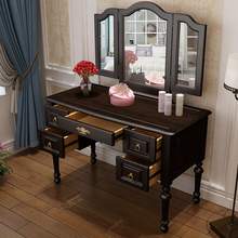 Beautiful Solid Wood Dresser,  Dressing Table, Makeup Stool, European Dressing Table white and Black walnut