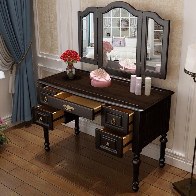 Hermoso aparador de madera maciza, tocador, cosmética taburete ...