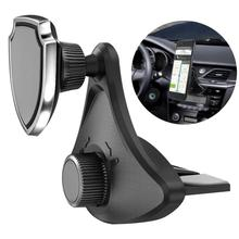 360 Degree Rotation Car CD Slot Mobile Phone Mount  Stand Magnetic Holder Bracket