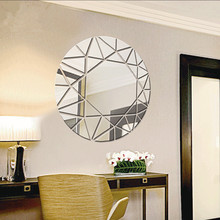 2695 europe and the united states burst skull dj creative personality living room bedroom tv background decorative wall Creative decorative sliver mirror 3D golden wall sticker Living room bedroom porch aisle TV background Acrylic wall sticker