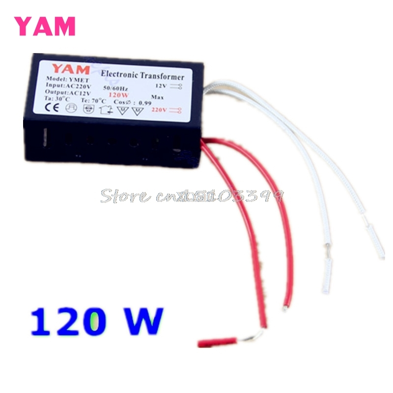 120W 220V Halogen Light LED Driver Power Supply Converter Electronic Transformer M10 dropship