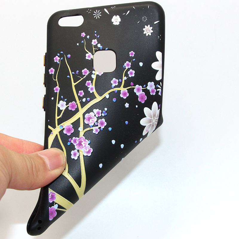 3D Relief flower silicone huawei P10 lite (24)