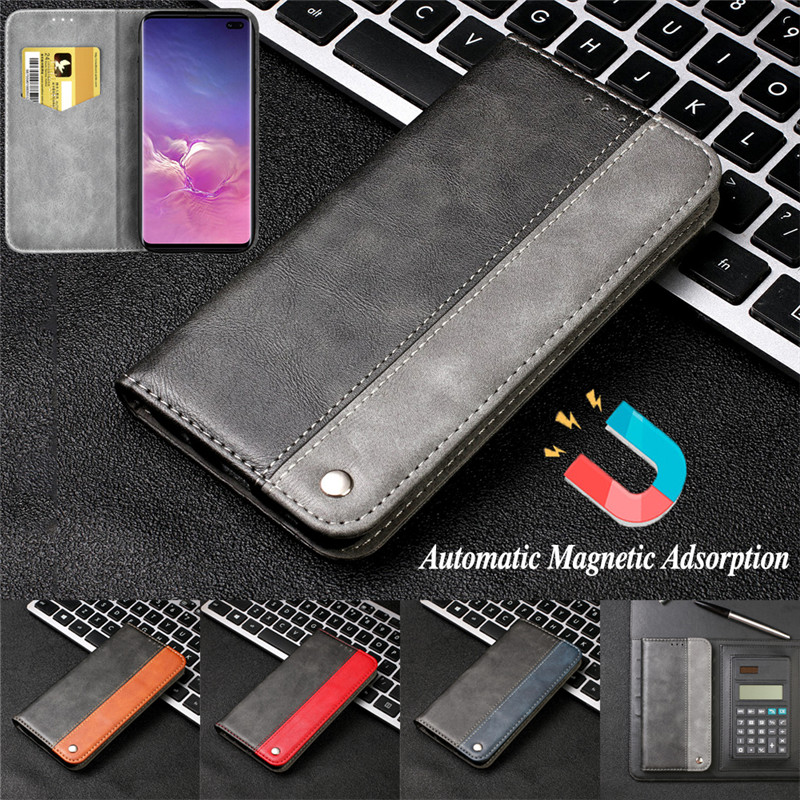 High Quality Leather Case for Samsung Galaxy S10 5G Wallet Flip Stand Phone Cases for Samsung S10E S10 S9 S8 Plus S7 Edge Cover image