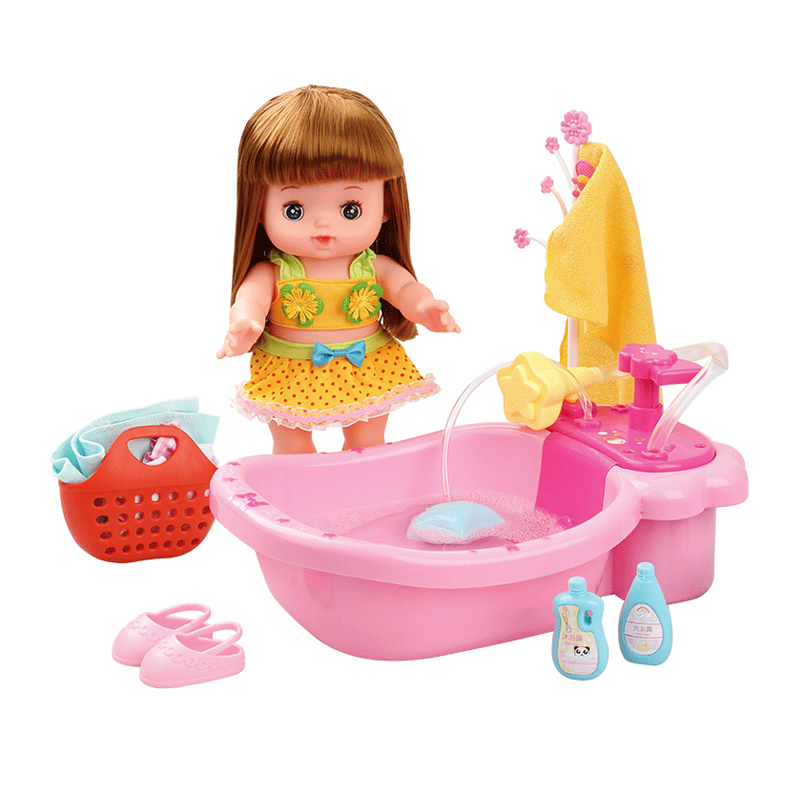 Baby doll house dream princess room children exclusive happy bubble bath suit girl play house accessories toys Birthday gift