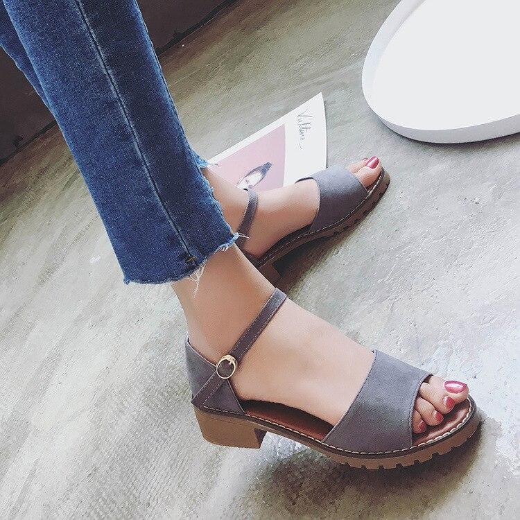 Sweet Summer Platform Sandal 2018 Buckle Strap Open Toe Women Sandals Square Heel Designer Shoes 5