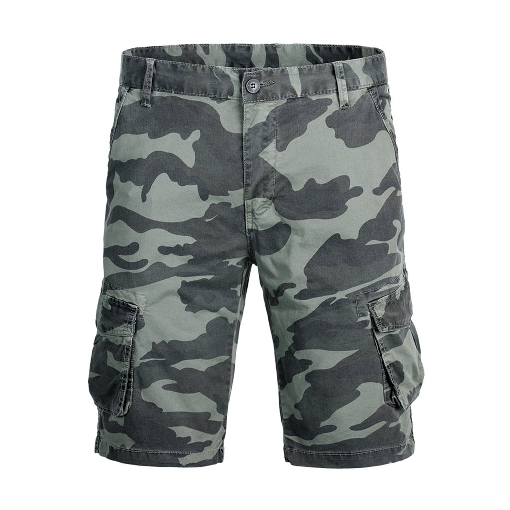 Fashsiualy Bermuda Masculina 2019 Fashion Men's Cotton Pocket Camouflage Outdoors Work Trouser Cargo Short Pants Short Homme