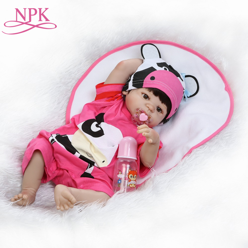 NPK 2017 New reborn baby full vinyl doll lifelike newborn baby with Cute red suit and hatNPK 2017 New reborn baby full vinyl doll lifelike newborn baby with Cute red suit and hat