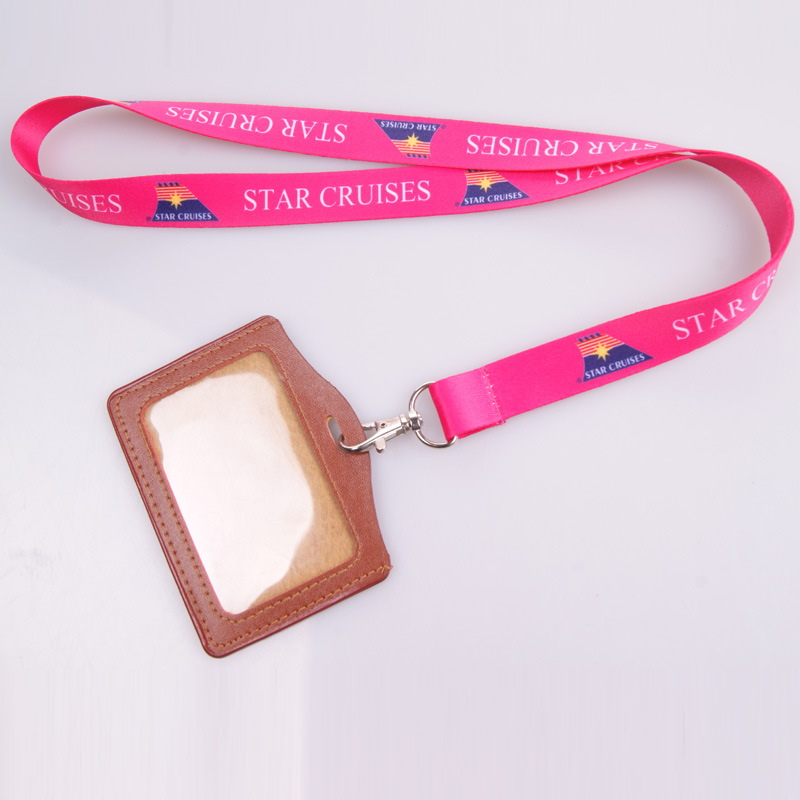100pcs/lot Free Shiping 20mm Wide Lanyard Custom Full Color Heat Transfer Printing Neck Strap With Pu Card Holder