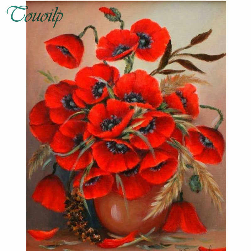 Diy diamond embroidery Poppy flowers painting 5d full rhinestones pasted diamond painting cross stitch kits mosaic needlework