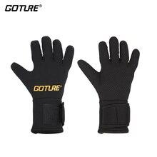 Goture Full Finger Anti-slip Men's Winter Fishing Gloves Black Waterproof Non-slip Outdoor Cycling Gloves D30