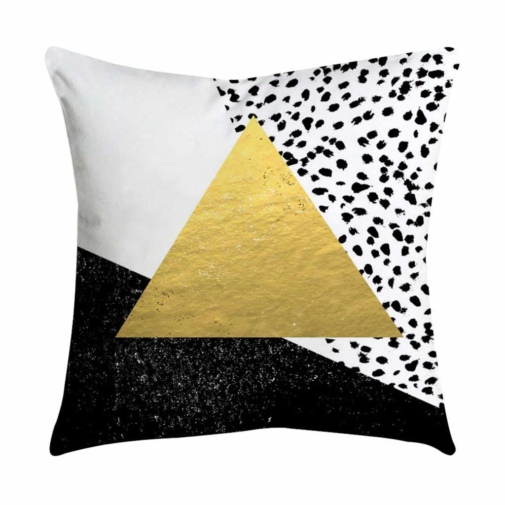 2018 New Rose Black Gold Throw Pillow Case Decorative Pillows Cover For Sofa Seat Cushion Cover 45x45cm Home Decor
