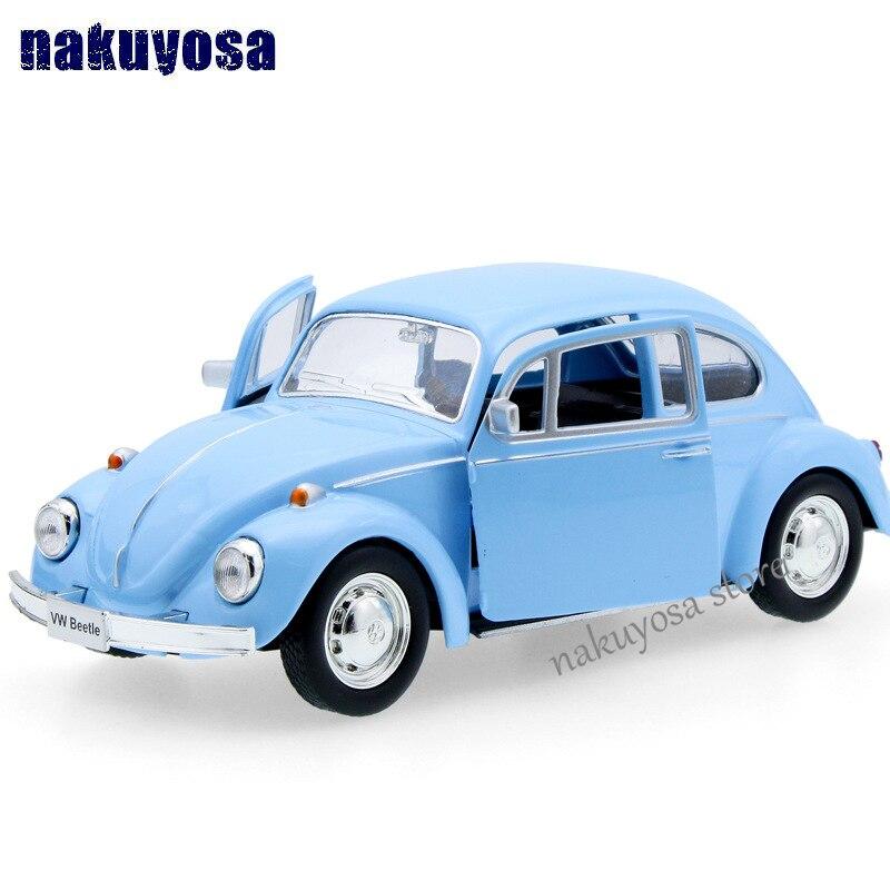 Children UNI-FORTUNE 1967 Volkswagen Beetle Model Car 1:32 5inch Diecast Metal Alloy Cars Toy Pull Back Kids Gift 12.5*5*3.5CM