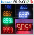 """leeman 10inch 12"""" Outdoor and Waterproof 4 digital 8.889 style Gas Station Different color outdoor led gas price digital display"""