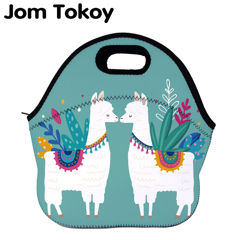 Jom Tokoy Alpaca Thermal Insulated print Lunch Bags for Women Kids Thermal Bag Lunch Box Food Picnic Bags Tote Handbags
