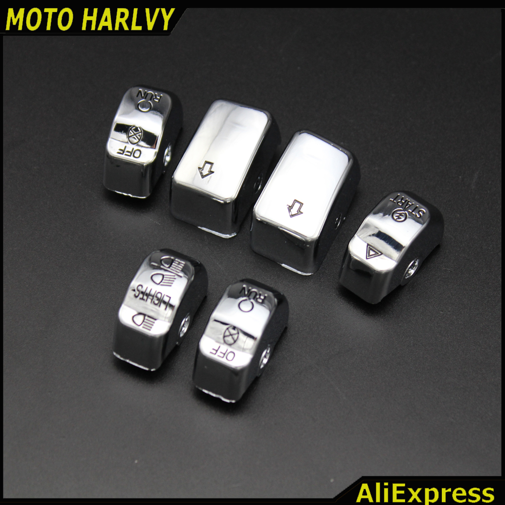 Covers & Ornamental Mouldings Adroit Chrome Engrave Hand Control Switch Housing Buttons Cap Fits For Harley Davidson 14-later Xl/12-later Dyna & 11-15 Softail Models Harmonious Colors Frames & Fittings