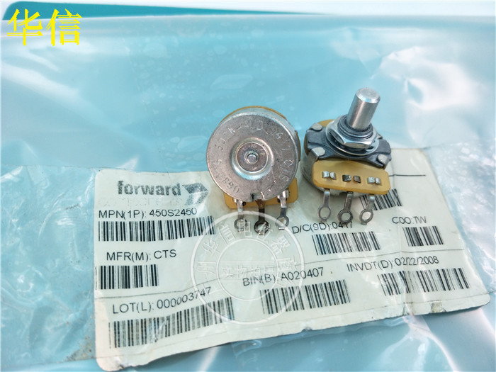 Original new 100% 068306 500K-AUD import single potentiometer 500K handle long 16MM round shaft (SWITCH) liulian motor potentiometer a100k 25mm round shaft