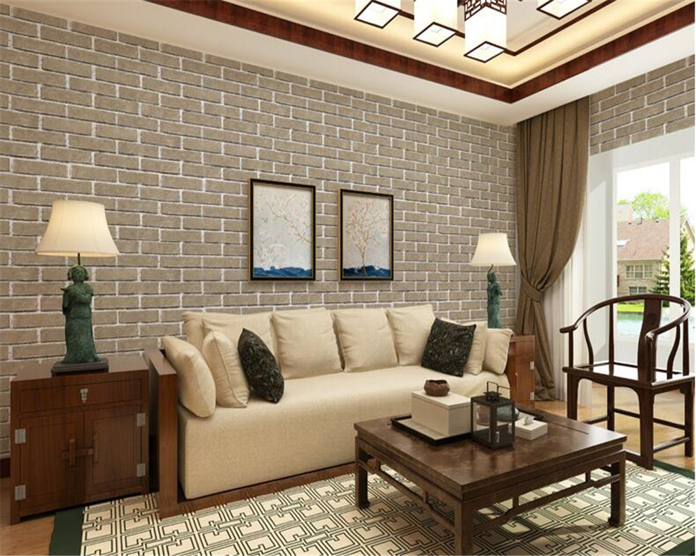 beibehang Simple fashion clothing store hotel barber shop brick wall paper beauty salon Cafe style brick pattern 3d wallpaper beibehang roof black white square checkered 3d wall paper salon shop clothing store restaurant checkout ktv background wallpaper