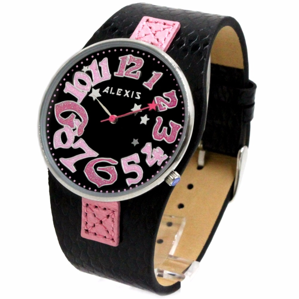 Women's Watches Alexis Sport Womens Rose Gold-tone Accented Digital Chronograph White Resin Strap Watch Kids Kinder Sport