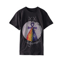 2018 Spring Summer Fashion Tarot Pattern Woman T Shirt 100 Cotton Bee Letters Woman T Shirt