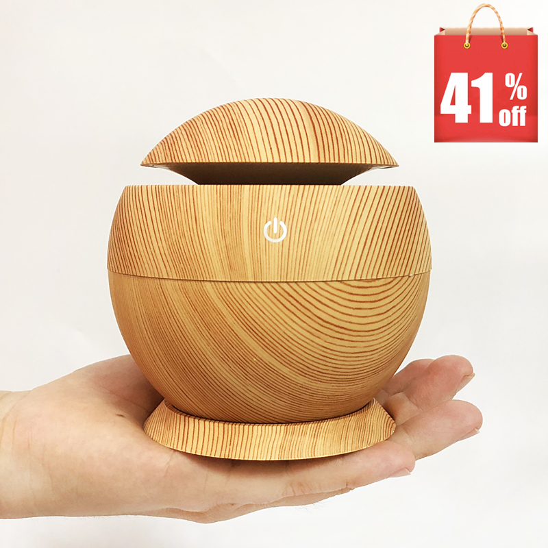 MRF-002 USB Aroma Essential Oil diffuser Ultrasonic Cool Mist Humidifier Air Purifier 7 Color LED Night light for Office Home
