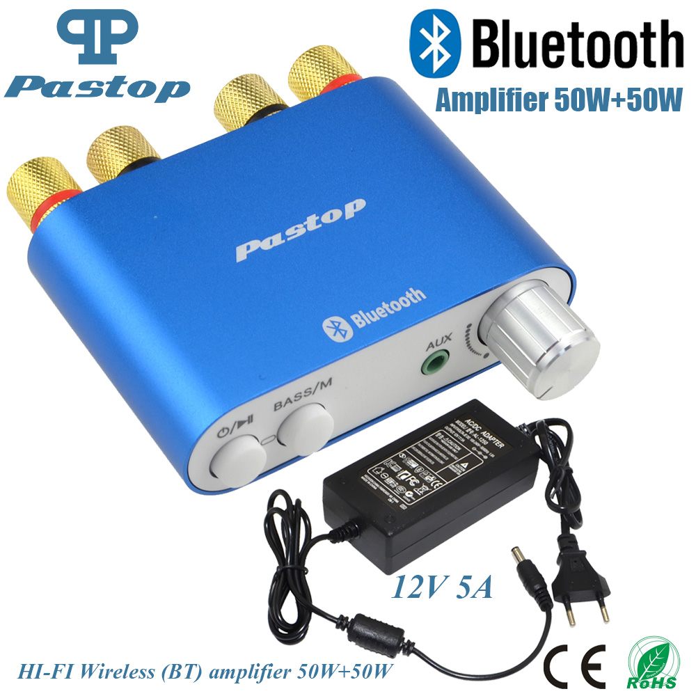 2017 Lastest HiFi 100 Watt TPA3116 Mini Bluetooth 4,0 Digitalverstärker Amp Home Audio Mit Netzteil FREIES SHPPING-10000409_B