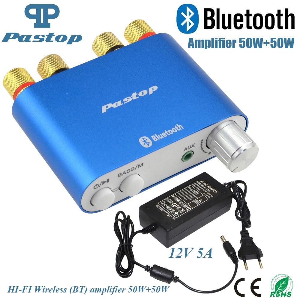 2017 lastest HiFi 100 W tpa3116 mini Bluetooth 4.0 digital Amplificadores AMP Home audio con alimentación envío shpping-10000409_b