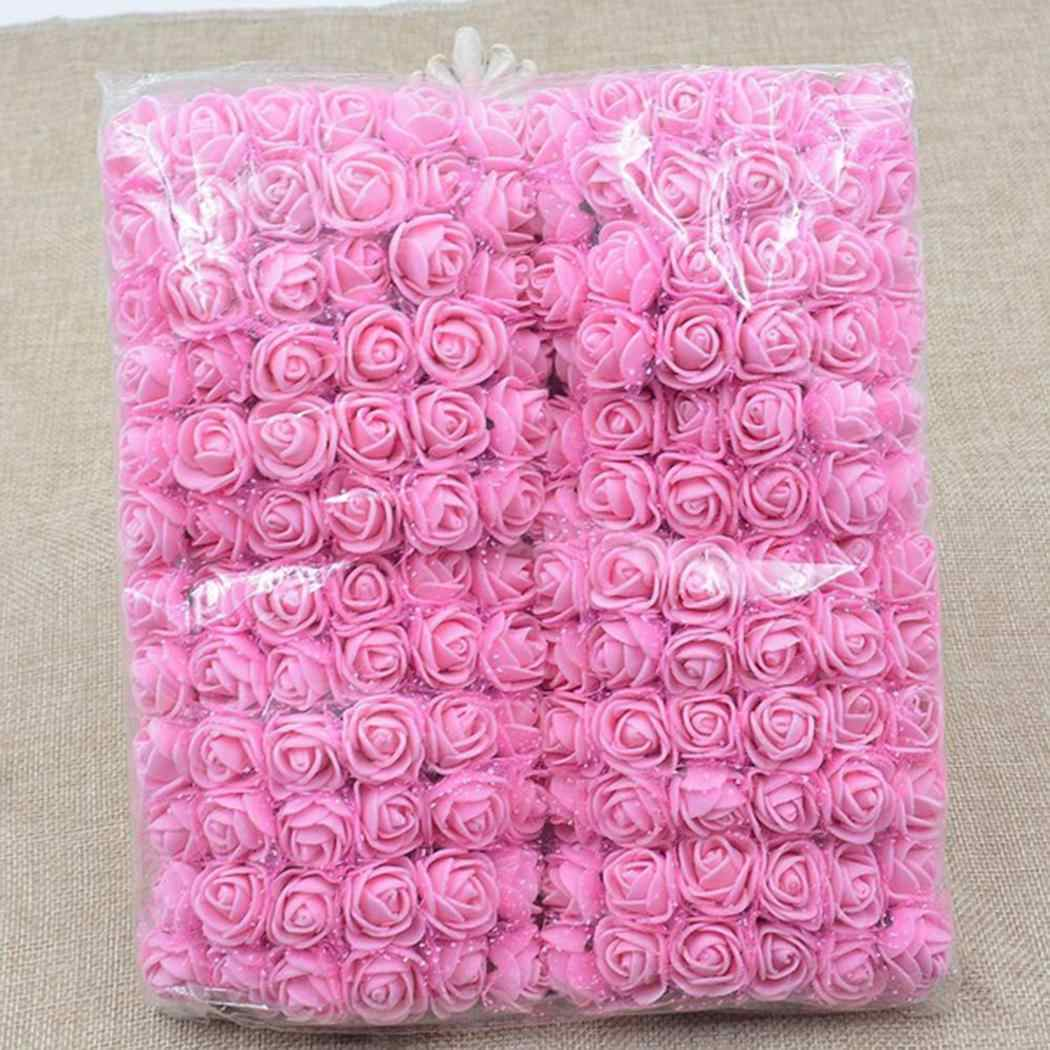 PE Foam Artificial Flowers Fake Rose Flowers Bouquet DIY Wedding Party Home Decoration MINI Multicolor Decor Roses Gifts
