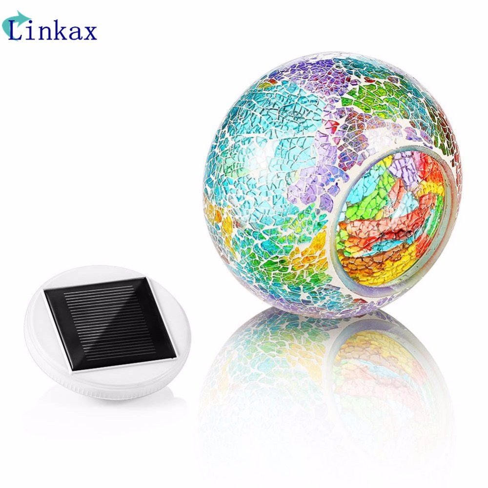 Mosaic Glass Outdoor Solar Power Ball light Garden Stake Color Changing Lawn LED Light atmosphere decor Solar lawn lampMosaic Glass Outdoor Solar Power Ball light Garden Stake Color Changing Lawn LED Light atmosphere decor Solar lawn lamp
