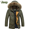 New listing 2016 Winter Afs Jeep Men Down Parkas Jackets Fashion Man Hooded Thick Warm  Outwear Overcoat Wadded Coat 160