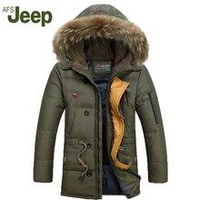 Neues angebot 2016 Winter Afs Jeep Männer Unten Parkas Jacken Fashion Mann Mit Kapuze Starke Warme Outwear Mantel Wadded 160