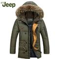 Nuevo anuncio 2016 Afs Jeep Hombres Abajo Parkas Chaquetas de Invierno Moda Hombre Con Capucha Gruesa capa Caliente Outwear Abrigo Abrigo Arrugado 160